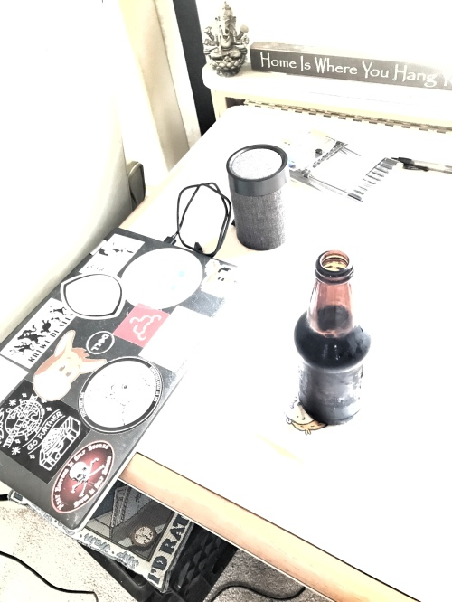 Hi key photo of a beer on a side table