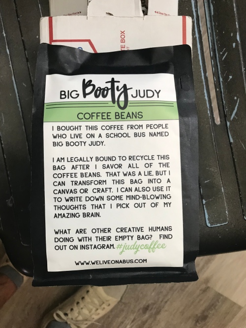 Bad of coffee beans
