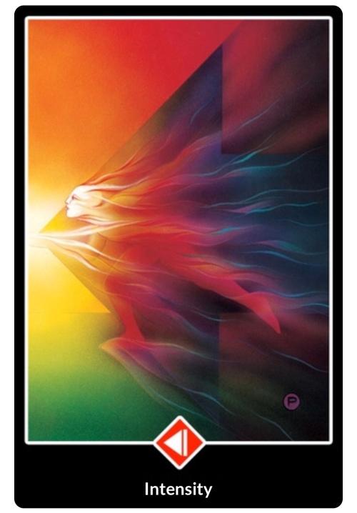 Intensity tarot card