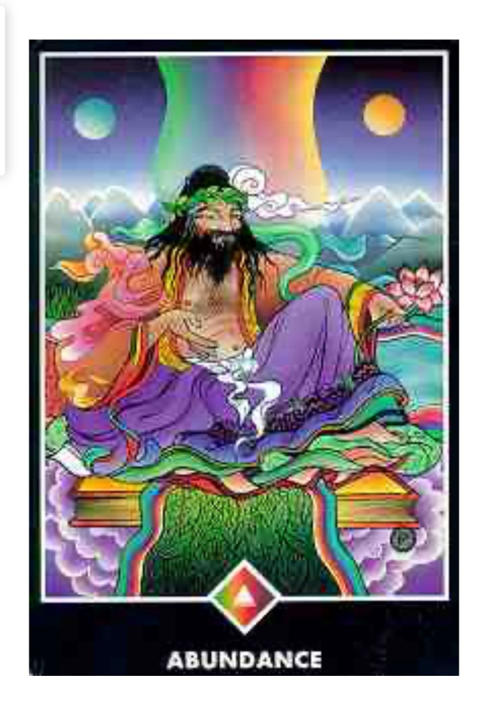 Osho  Tarot Abundace  King of Rainbows